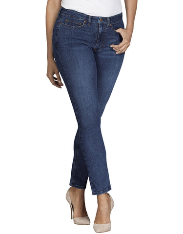 Dickies Womens Curvy Skinny Denim Jean: WOMENS JEANS - STONEWASHED INDIGO BLUE: FD148SNB