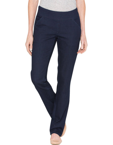 Dickies Womens Stretch Denim Pull-On Jean: WOMENS JEANS - RINSED INDIGO BLUE: FD421RNB