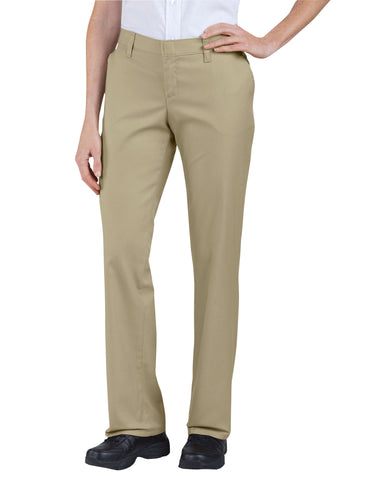 Dickies Womens Flat Front Pant: WOMENS PANTS - DESERT SAND: FP221DS