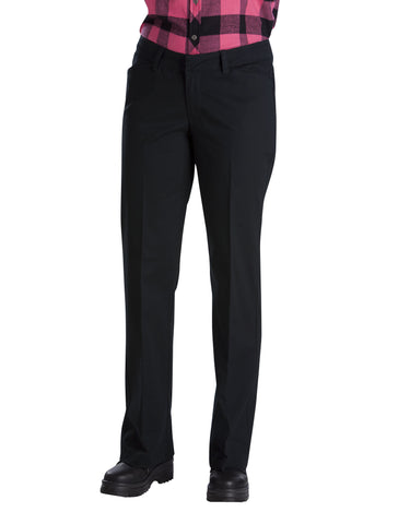 Dickies Womens Relaxed Straight Flat Front Pant: WOMENS PANTS - BLACK: FP321BK