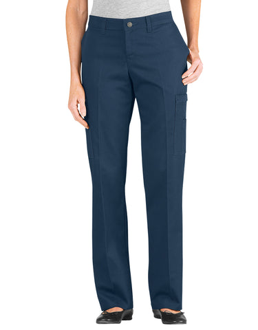 Dickies Womens Industrial Cotton Cargo Pant: WOMENS PANTS - NAVY: FP337NV