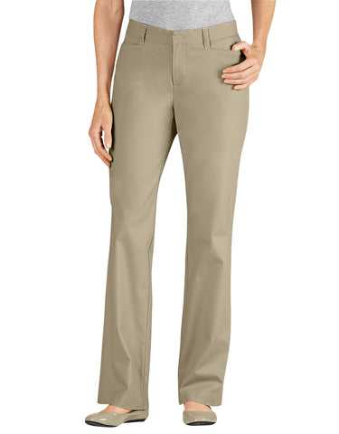 Dickies Womens Curvy Straight Stretch Twill Pant: WOMENS PANTS - DESERT SAND: FP342DS