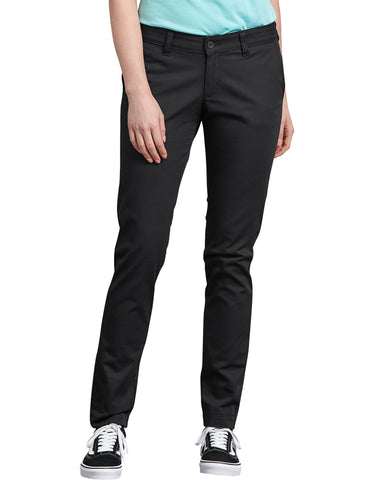 Dickies Womens Stretch Twill Pant: WOMENS PANTS - RINSED BLACK: FP512RBK