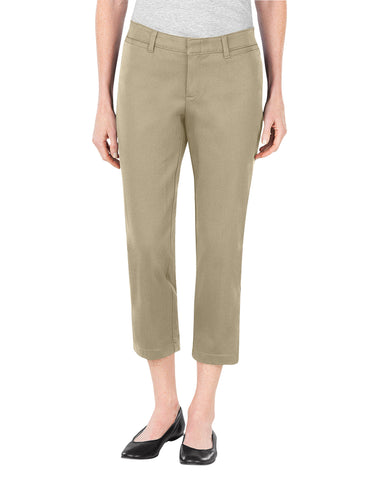 Dickies Womens Twill Work Capri: WOMENS CAPRI - DESERT SAND: FR603DS