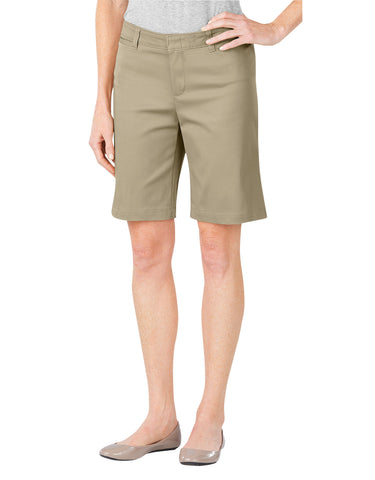 "Dickies Womens 10"" Stretch Twill Short: WOMENS SHORTS - DESERT SAND: FR604DS"