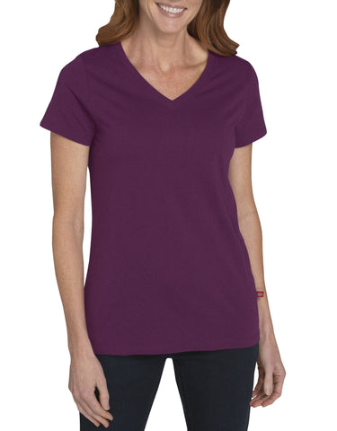 Dickies Womens S/S V-Neck T-Shirt: WOMENS TOPS - CANYON SUNSET: FS096AT