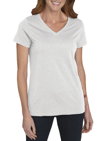 Dickies Womens S/S V-Neck T-Shirt: WOMENS TOPS - OPAQUE WHITE: FS096WQ