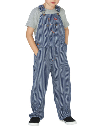 Dickies Toddler Denim Bib Overall: BOYS BIB OVERALLS - RINSED HICKORY STRIPE: KB202RHS