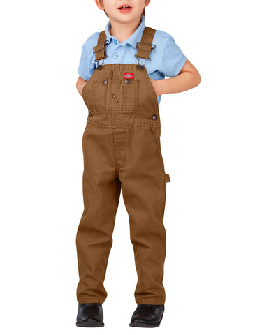 Dickies Toddler Duck Bib Overall: BOYS BIB OVERALLS - RINSED BROWN DUCK: KB203RBD