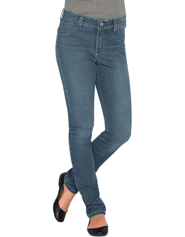 Dickies Girls Super Skinny Denim Jeans: GIRLS JEANS - BLEACH STONEWASH: KD802BST