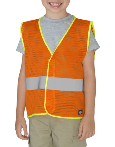 Dickies Girls Toddler/Preschool E-Vis Safety Vest: GIRLS VESTS - NEON ORANGE: KE3202NA