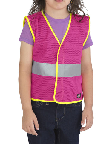 Dickies Girls Toddler/Preschool E-Vis Safety Vest: GIRLS VESTS - NEON PINK: KE3202NK