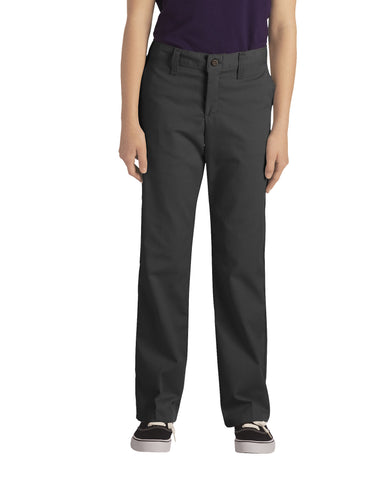 Dickies Girls Stretch Straight Leg Pant: GIRLS PANTS - BLACK: KP0018BK