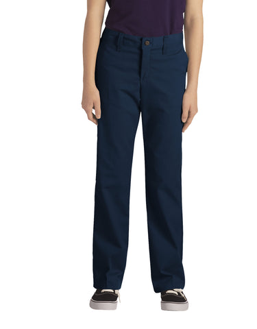 Dickies Girls Stretch Straight Leg Pant: GIRLS PANTS - DARK NAVY: KP0018DN