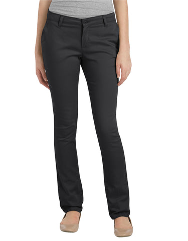Dickies Girls Stretch Straight Leg Pant: GIRLS PANTS - BLACK: KP5518BK