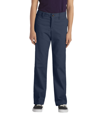Dickies Girls Stretch Straight Leg Pant: GIRLS PANTS - DARK NAVY: KP5518DN