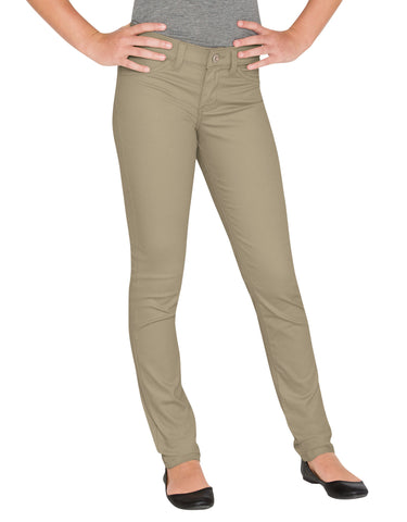 Dickies Girls Super Skinny Stretch Pant: GIRLS PANTS - RINSED DESERT SAND: KP7802RDS