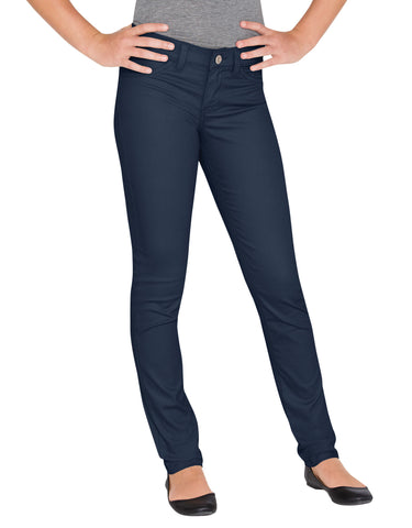 Dickies Girls Super Skinny Stretch Pant: GIRLS PANTS - RINSED DARK NAVY: KP802RDN