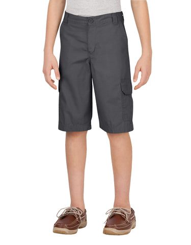 Dickies Boys Ripstop Cargo Short: BOYS SHORTS - RINSED GRAPHITE: KR414RGA