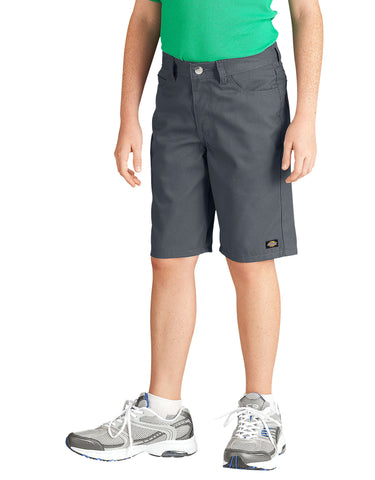 Dickies Boys Slim Fit 5-Pocket Twill Short: BOYS SHORTS - CHARCOAL: KR430CH