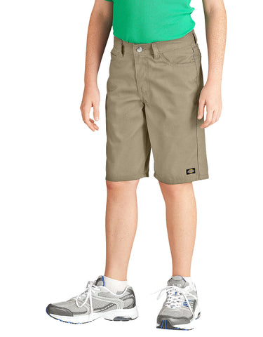 Dickies Boys Slim Fit 5-Pocket Twill Short: BOYS SHORTS - DESERT SAND: KR430DS