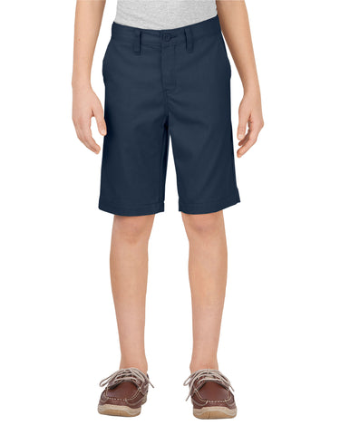 Dickies Boys Slim Fit Flat Front Short: BOYS SHORTS - DARK NAVY: KR701DN