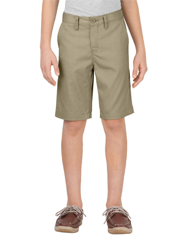 Dickies Boys Slim Fit Flat Front Short: BOYS SHORTS - DESERT SAND: KR701DS