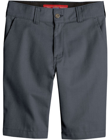 Dickies Boys Slim Fit Flex Short: BOYS SHORTS - CHARCOAL: KR894CH
