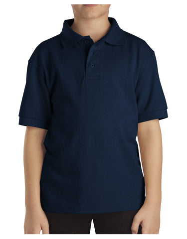 Dickies Youth Size S/S Pique Polo Shirt: BOYS SHIRTS - DARK NAVY: KS4552DN