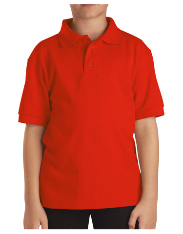 Dickies Youth Size S/S Pique Polo Shirt: BOYS SHIRTS - ORANGE: KS4552OR