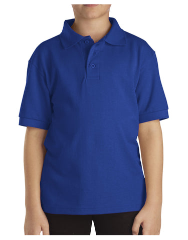 Dickies Youth Size S/S Pique Polo Shirt: BOYS SHIRTS - ROYAL BLUE: KS4552RB