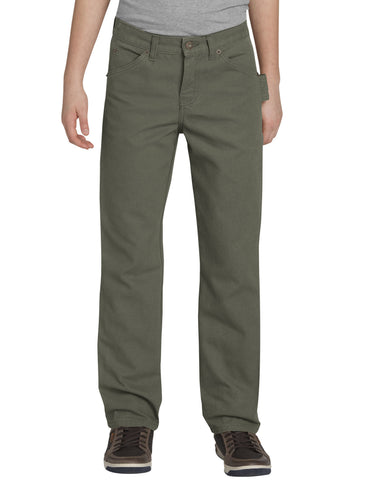 Dickies Boys Carpenter Duck Jean: BOYS JEANS - RINSED MOSS GREEN: KU336RMS