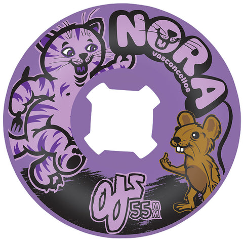OJ Wheels Vasconcellos Cat and Mouse 55mm Insaneathane 101a Skateboard Wheels