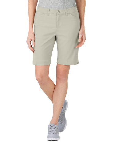 Dickies Womens Dps Dry Stretch Short: WOMENS SHORTS - STONE: SRF100ST