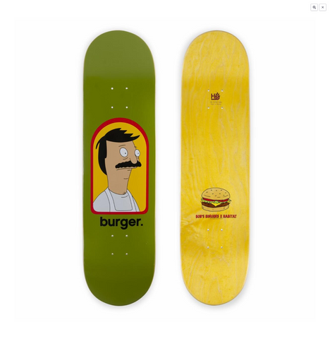 Habitat Skateboards Bob's Burgers - Burger Large 8.25
