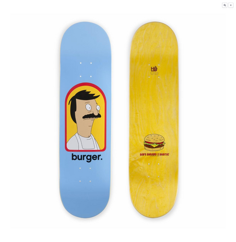 Habitat Skateboards Bob's Burgers - Burger Small 8.0