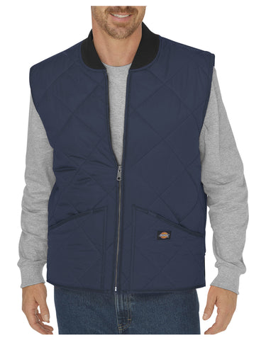 Dickies Diamond Quilted Nylon Vest: MENS VESTS - DARK NAVY: TE242DN