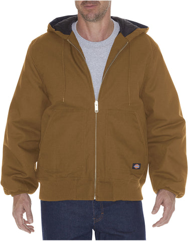 Dickies Rigid Duck Hooded Jacket: MENS JACKETS - BROWN DUCK: TJ718BD