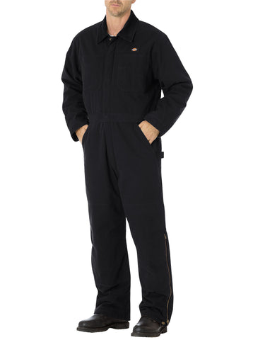 Dickies Sanded Duck Insulated Coverall: MENS COVERALLS - RINSED BLACK: TV243RBK