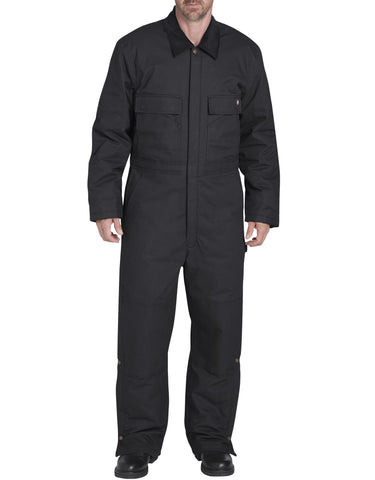 Dickies Sanded Duck Flex Coverall: MENS COVERALLS - BLACK: TV676BK