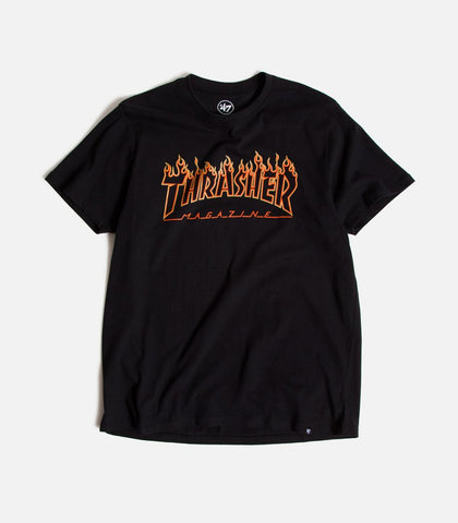 Thrasher Magazine X 47 Brand San Francisco Giants Flame Splitter T-Shirt