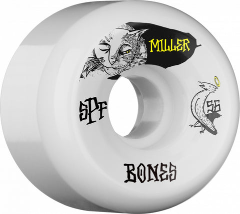Bones Wheels SPF Pro Miller Guilty Cat 56mm 104a P5 Skateboard Wheels 4pk