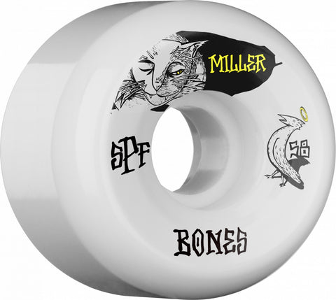Bones Wheels SPF Pro Miller Guilty Cat 58mm 104a P5 Skateboard Wheels 4pk
