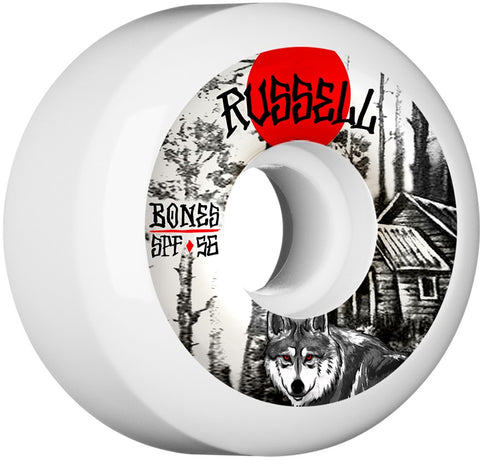 Bones Wheels SPF Pro Russell Cabin 56mm 104a P5 Skateboard Wheels 4pk