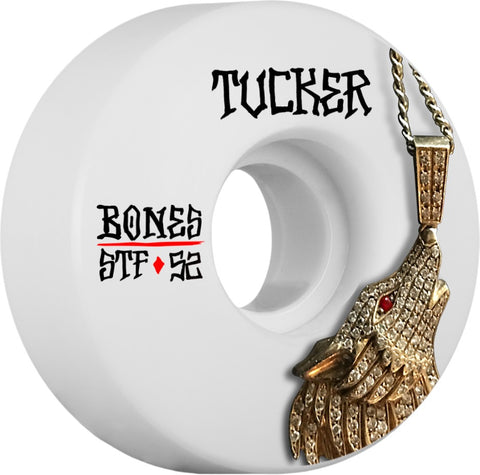 Bones Wheels STF Pro Tucker Wolf 52mm 103A V1 Skateboard Wheels 4pk