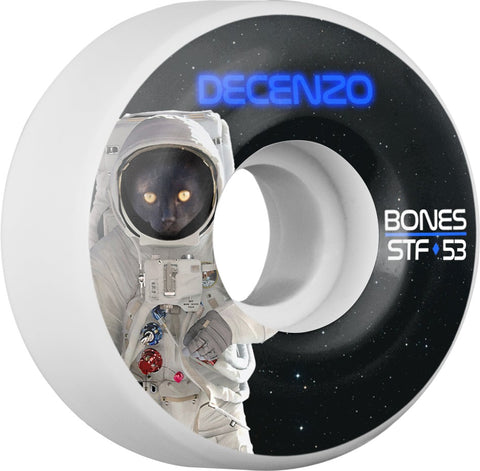 Bones Wheels STF Pro Decenzo Catsrtonaught 53mm 103A V2 Skateboard Wheels 4pk