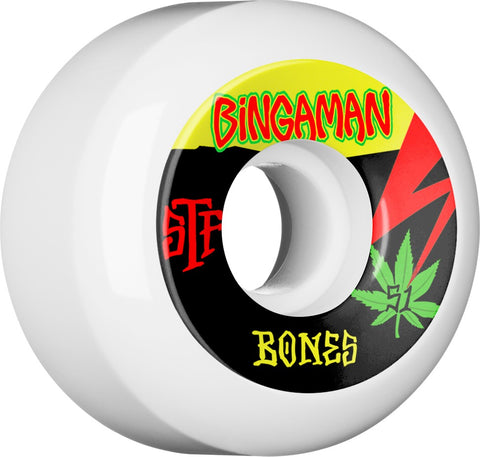 Bones Wheels STF Pro Bingaman Attitude 55mm 103A V5 Skateboard Wheels 4pk