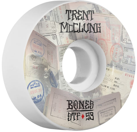 Bones Wheels STF Pro McClung Passport 53mm 103a V1 Skateboard Wheels 4pk