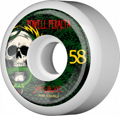 Powell Peralta Wheels McGill Skull and Snake 58mm 103a PF 4pk - White