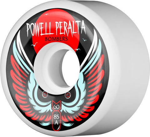 Powell Peralta Wheels Bomber Wheel 3 60mm 85a Skateboard Wheels 4pk - White
